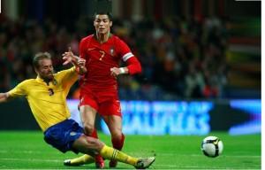 jnpt280309pc futebol portugal vs suecia no estadio do dragao Foto de