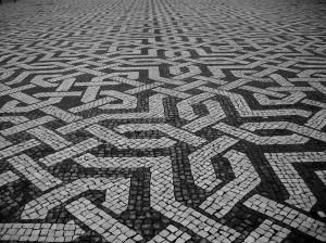 calçada geometrica